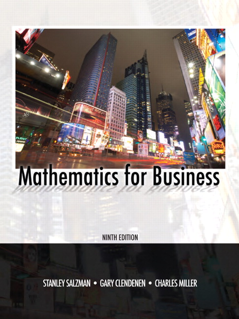 Salzman clendenen mathematics for business pearson mathematics for business 9th edition fandeluxe Image collections
