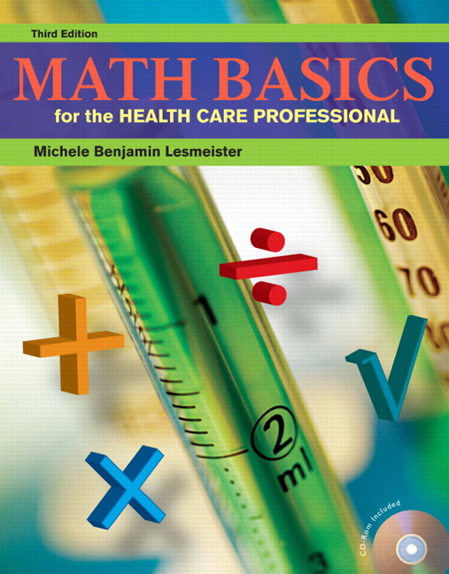 Math Book Cover Pictures : Lesmeister math basics for the health care professional