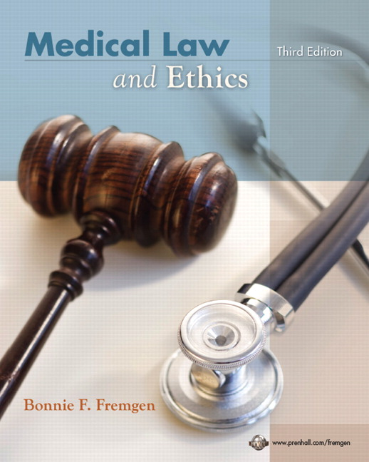 medical law and ethics Medical law and ethics has 50 ratings and 1 review for courses in healthcare ethics having a balanced understanding of legal and ethical concepts and a.