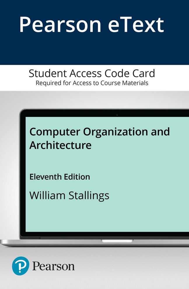 Computer Organization and Architecture, 11th Edition