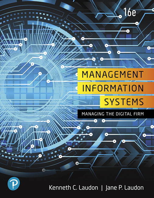 Laudon & Laudon, Management Information Systems: Managing