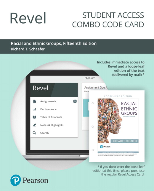 Schaefer racial and ethnic groups rental edition pearson revel for racial and ethnic groups combo access card 15th edition schaefer fandeluxe Images