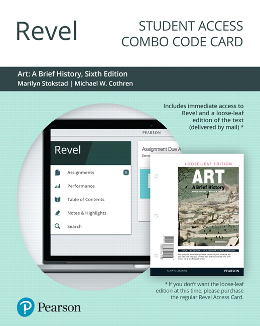 revel for art a brief history combo access card 6th edition