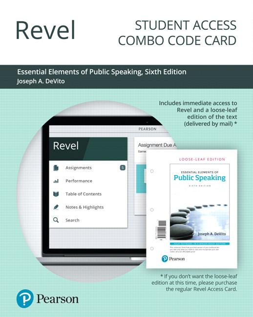 DeVito, Revel for Essential Elements of Public Speaking ...