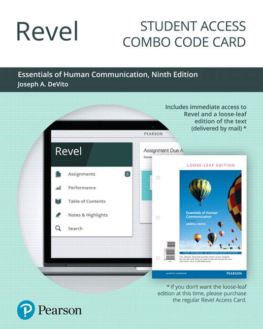 Devito essentials of human communication pearson revel for essentials of human communication combo access card 9th edition fandeluxe Images