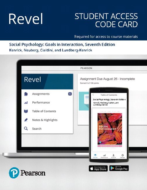 Revel for Social Psychology: Goals in Interaction -- Access Card