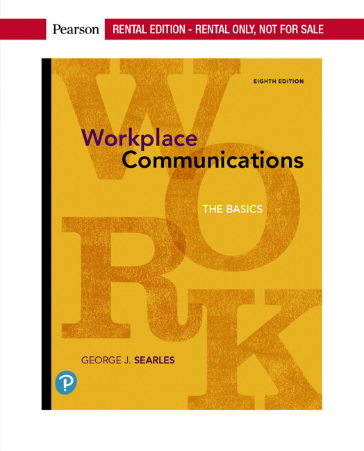 Searles Workplace Communications The Basics 8th Edition Pearson