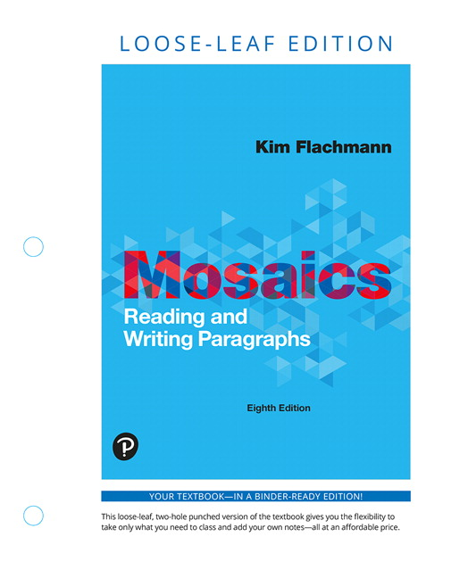 Mosaics: Reading and Writing Paragraphs, Books a la Carte Edition