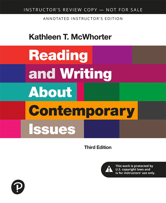 Annotated Instructor's Edition for Reading and Writing About Contemporary Issues