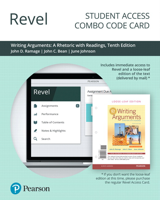 Revel for Writing Arguments: A Rhetoric with Readings -- Combo Access Card