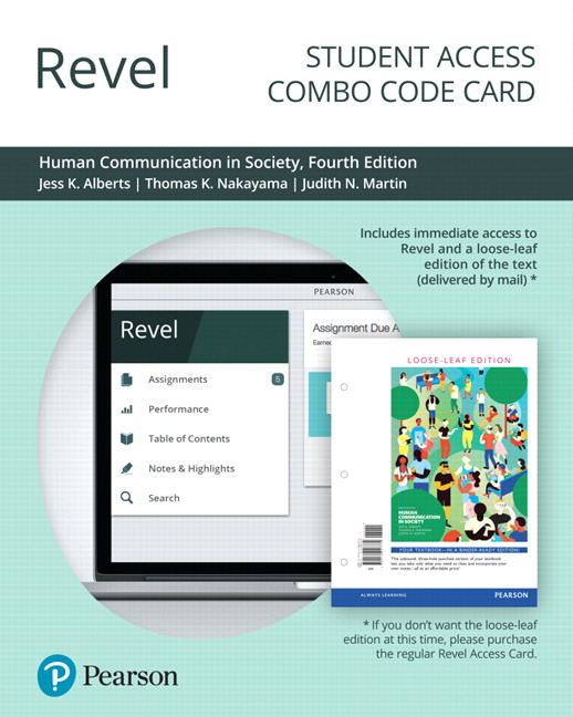 Alberts nakayama martin human communication in society pearson revel for human communication in society for combo access card 4th edition fandeluxe Gallery