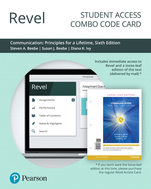 Beebe beebe ivy communication principles for a lifetime pearson revel for communication principles for a lifetime combo access card 6th edition fandeluxe Images
