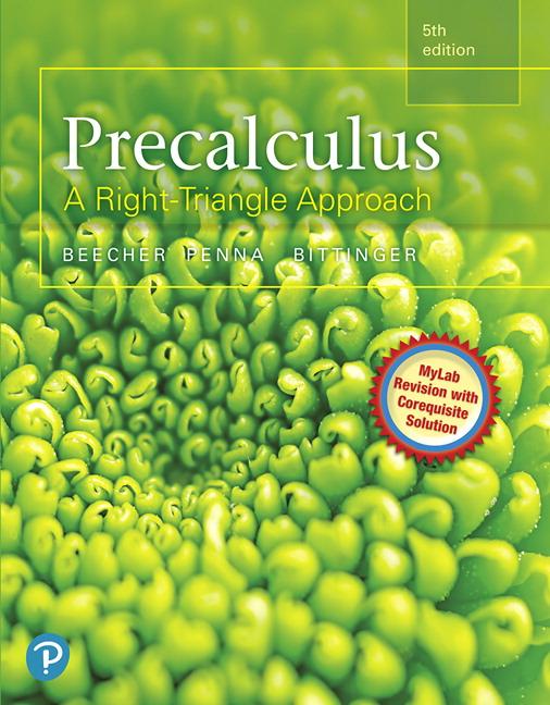 Beecher Penna Bittinger Precalculus A Right Triangle