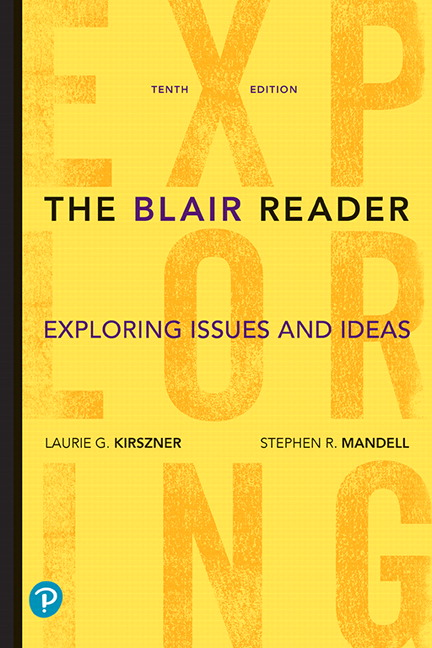 Instructor Review Copy for The Blair Reader: Exploring Issues and Ideas