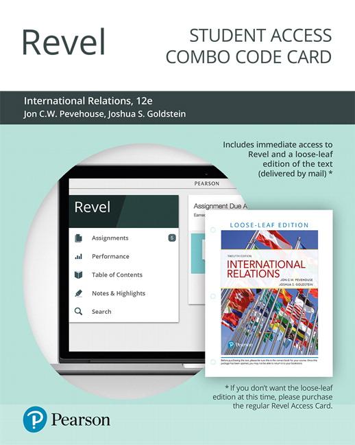 Pevehouse & Goldstein, Revel for International Relations -- Access