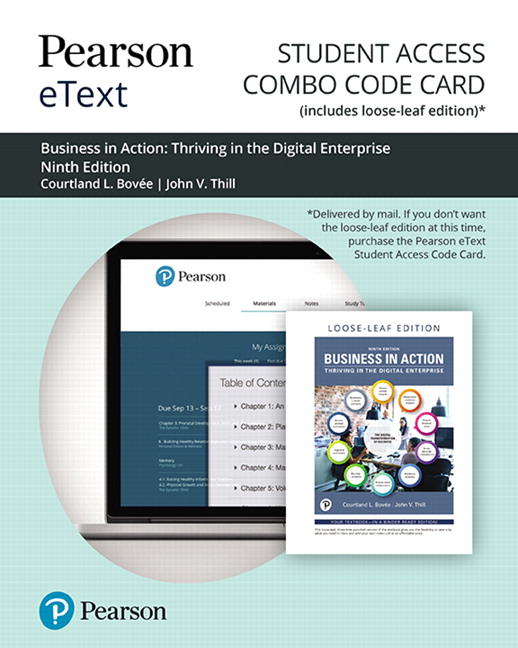 Pearson eText for Business in Action -- Combo Access Card