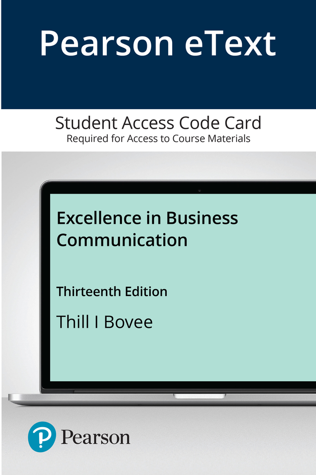 Pearson eText Excellence in Business Communication -- Access Card