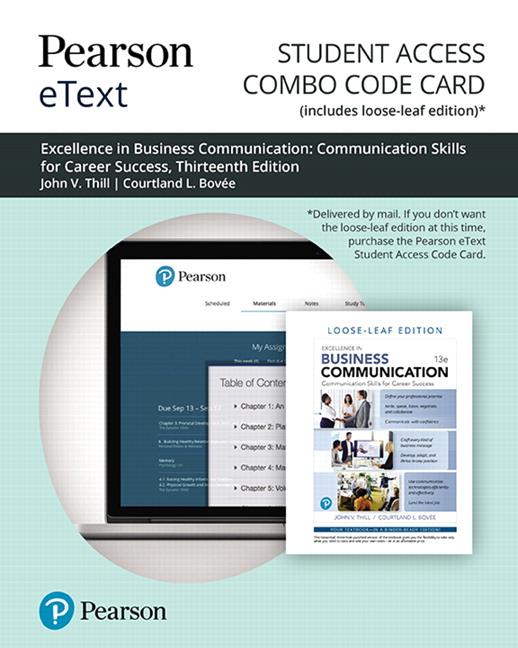 Pearson eText for Excellence in Business Communication -- Combo Access Card