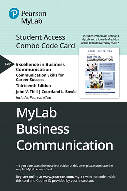 MyLab Business Communication with Pearson eText -- Combo Access Card -- for Excellence in Business Communication