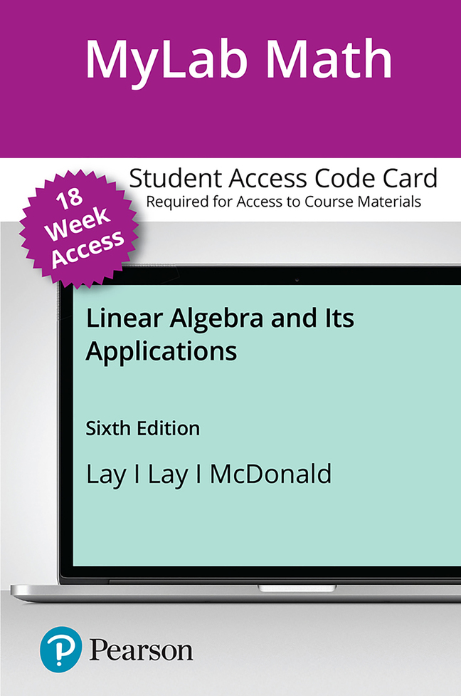 Linear Algebra and its Applications, 6th Edition