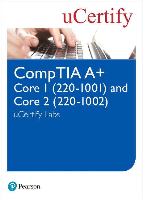 CompTIA A+ Core 220-1001 and Core 220-1002 uCertify Labs Access Code Card