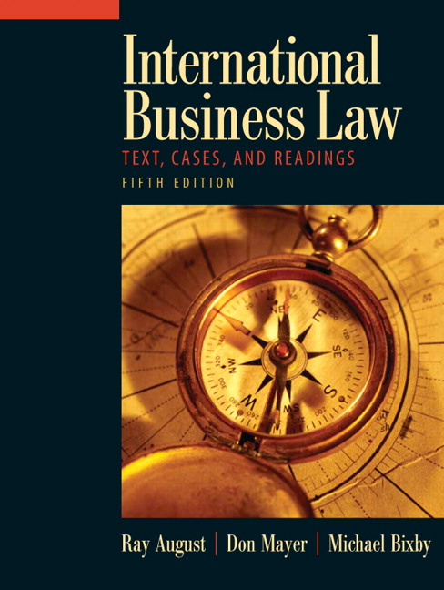 Business Book Cover Job : August mayer bixby international business law th