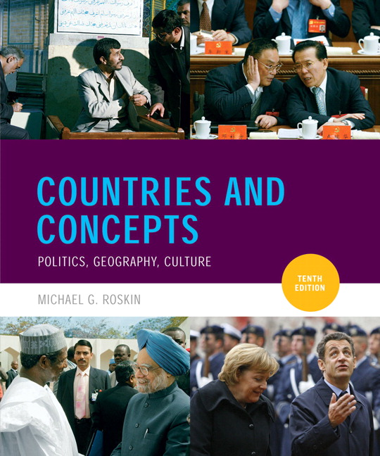Geography Cultures: Roskin, Countries And Concepts: Politics, Geography