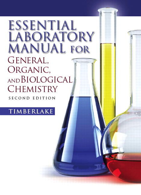 timberlake essential laboratory manual for general organic and rh pearson com