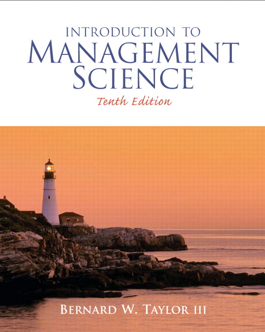Taylor introduction to management science pearson introduction to management science 10th edition taylor fandeluxe Gallery