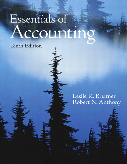 Breitner anthony essentials of accounting pearson essentials of accounting 10th edition anthony breitner fandeluxe Gallery