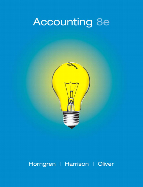 Horngren Harrison Oliver Accounting Chapters 1 23