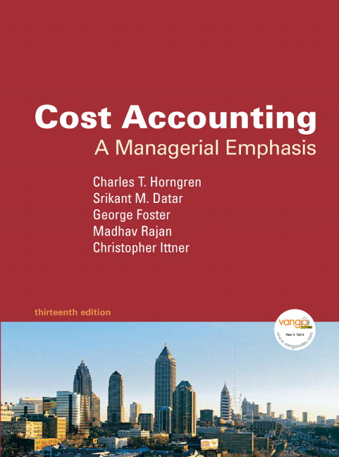 cost accounting a managerial emphasis solution manual