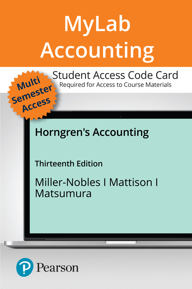 Horngren's Accounting, 13th Edition