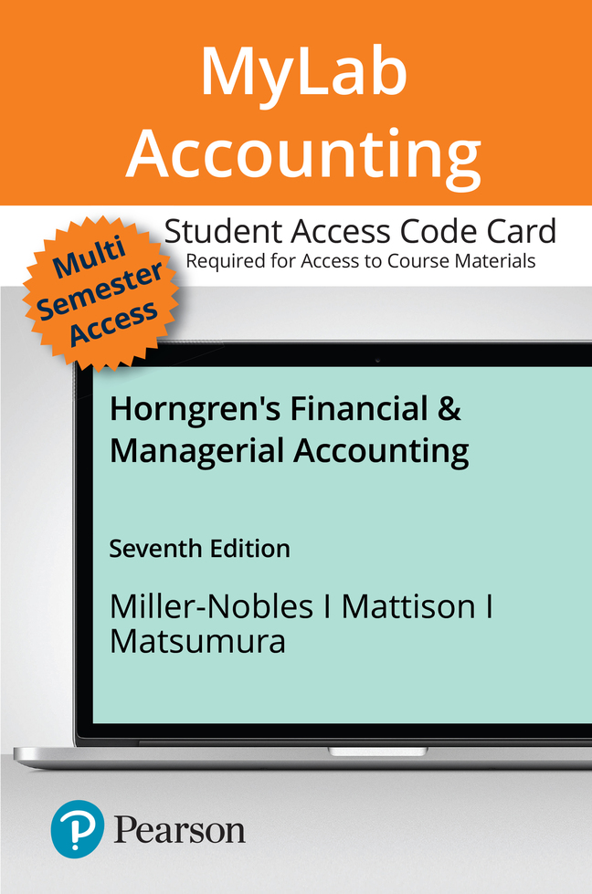 Horngren's Financial & Managerial Accounting, 7th Edition