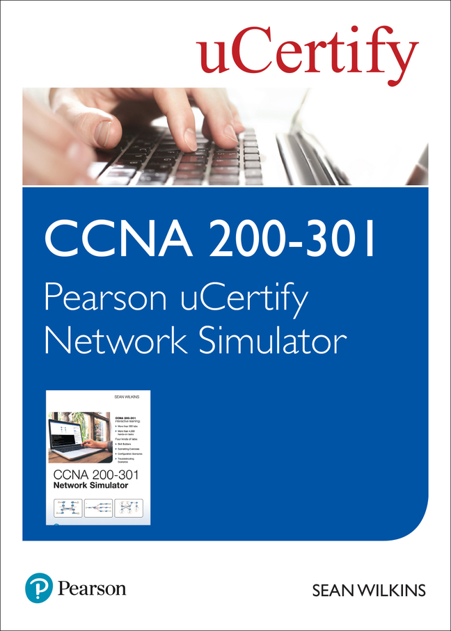 CCNA 200-301 Pearson uCertify Network Simulator Student Access Card