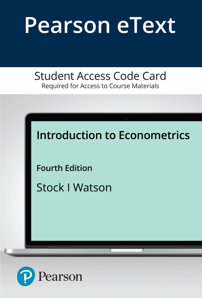 Pearson eText Introduction to Econometrics -- Access Card