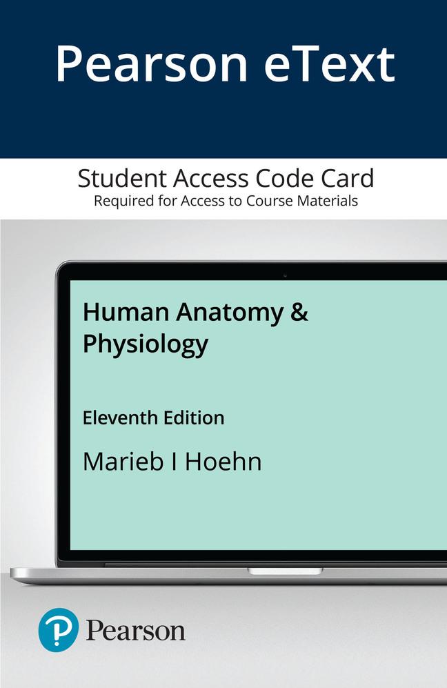 Pearson eText Human Anatomy & Physiology -- Access Card