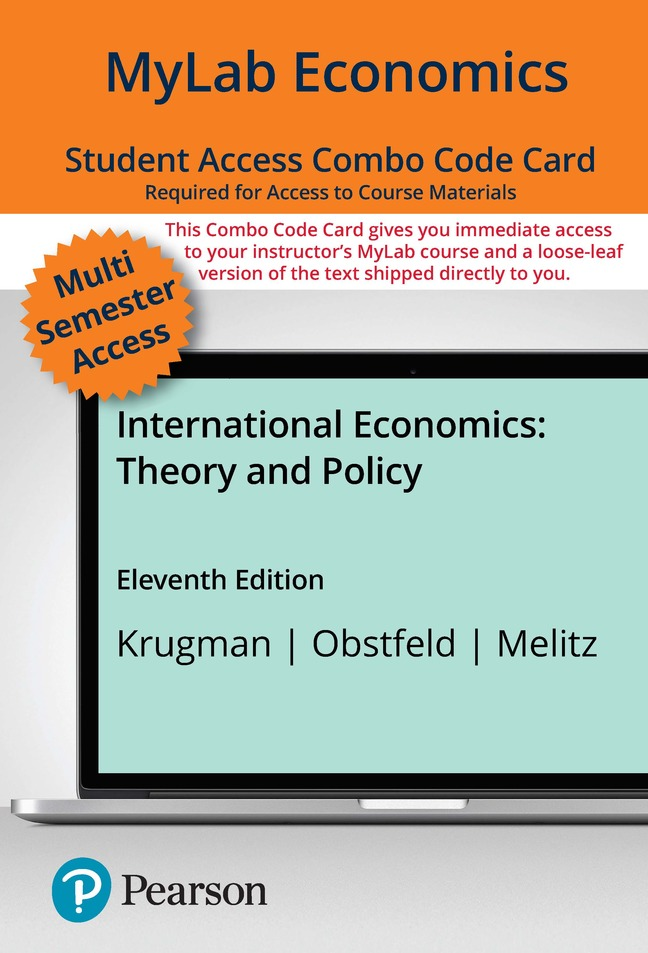 MyLab Economics with Pearson eText -- Combo Access Card -- for International Economics: Theory and Policy