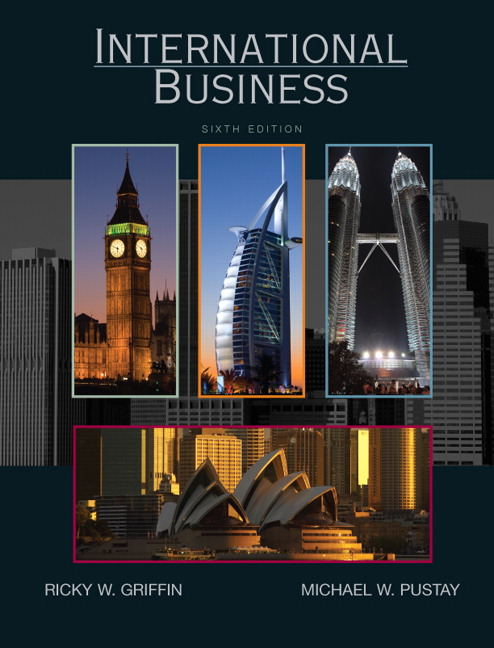 Business Book Cover Test ~ Griffin pustay international business pearson