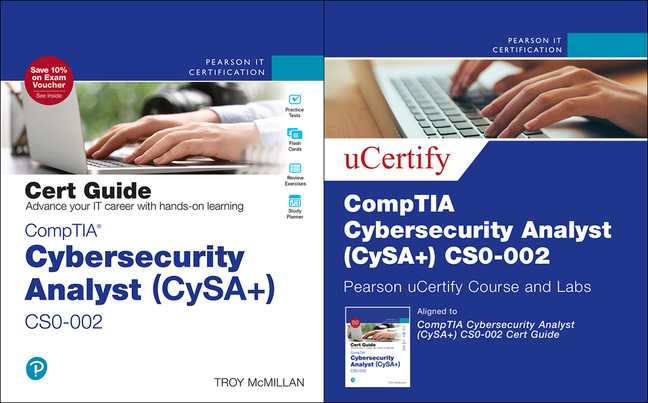 McMillan-CompTIA Cybersecurity Analyst (CySA+) CS0-002 Cert Guide Pearson uCeritfy Course and Labs Card and Textbook Bundle,2/e, 2nd Edition