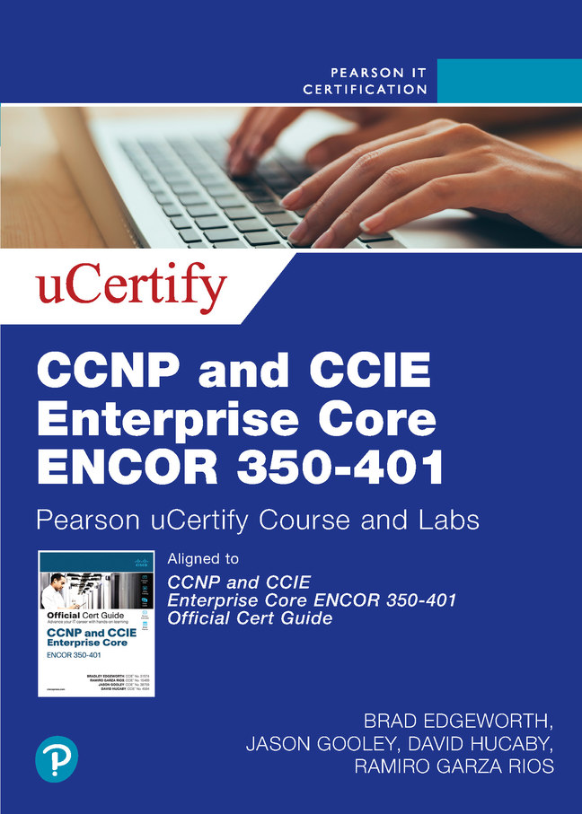CCNP and CCIE Enterprise Core ENCOR 350-401 uCertify Course and Labs Access Code Card