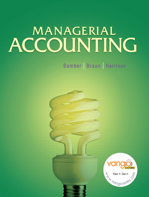 Managerial Accounting (text only) 2nd(Second) edition by W. M Tietz,W. T. Harrison K. Braun