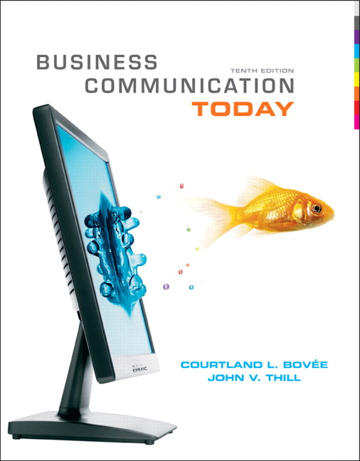 Business Communication Book Cover ~ Bovee thill business communication today plus new mylab