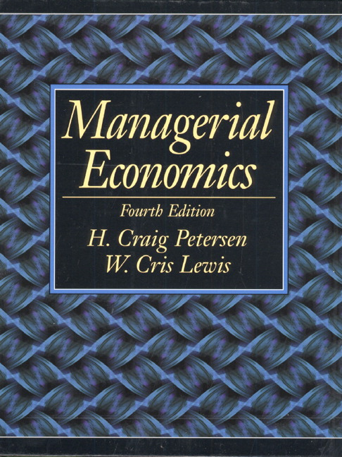 managerial economics foundation Economics bs, managerial economics specialization foundation core requirements the managerial economics specialization can be used as part of.