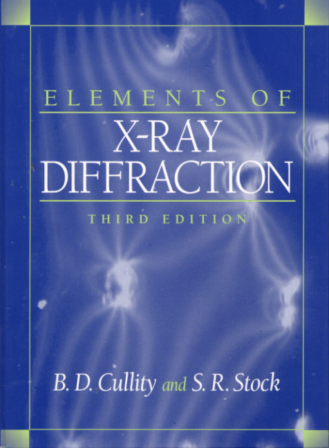 Elements of X-Ray Diffraction, 3rd Edition