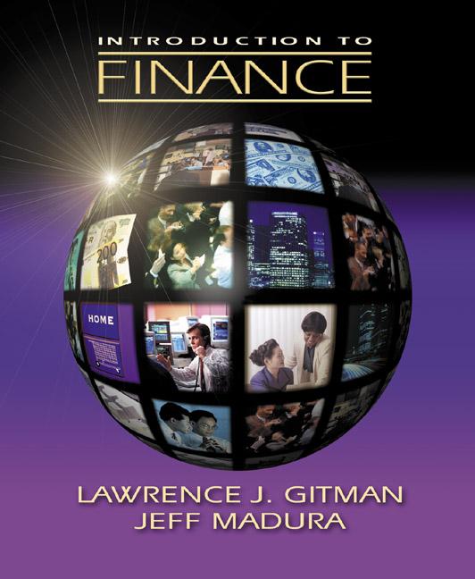 gitman madura introduction to finance pearson