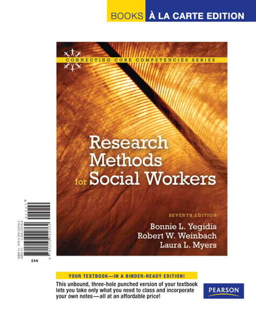 research methods for social workers Statistical methods for research workers by r a fisher, scd, frs formerly fellow oj conville   113 entitlement approach by amartya sen 349 singh, kultar quantitative social research methods.