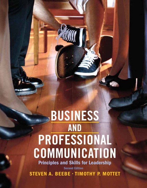 Business Communication Book Cover : Beebe mottet revel for business and professional