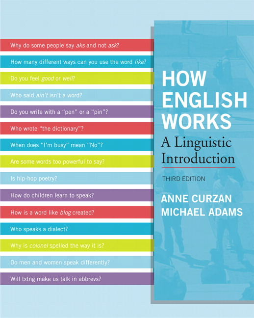 Curzan adams how english works a linguistic introduction pearson how english works a linguistic introduction 3rd edition fandeluxe Image collections