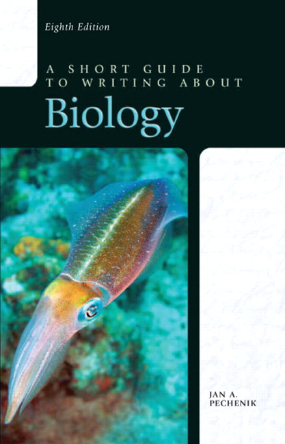 Short Guide to Writing about Biology, A, 8th Edition